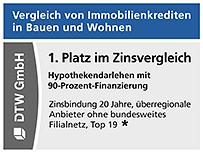 1. Platz im Zinsvergleich in Stiftung Warentest Finanztest 04/2021